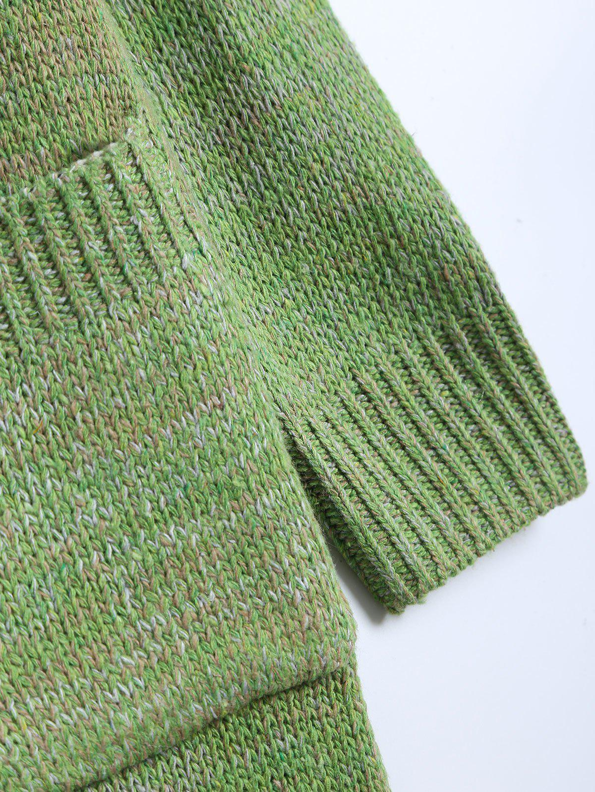 Automne Poches embellies Cardigan long - Vert ONE SIZE