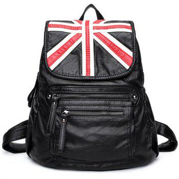 Union Jack Lightweight Flap Washable Leather Backpack