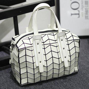 Rivet Lattice Pattern Geometric Tote Bag