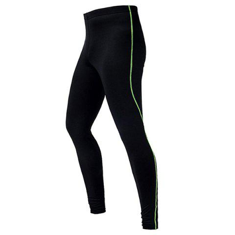 Professional Breathable Quick Dry Tight Cycling Pants - GREEN XL