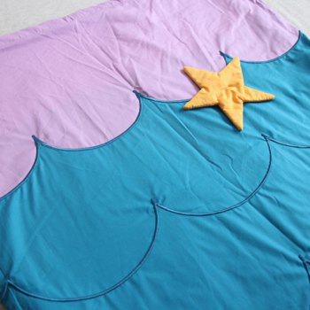 Warm Embroidered Flannel Double Layer Kids' Mermaid Tail Sleeping Bag Blanket -  LAKE BLUE
