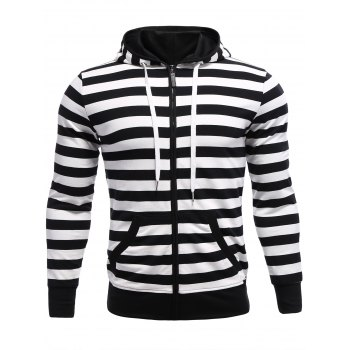 Hooded Stripes Pattern Hoodie