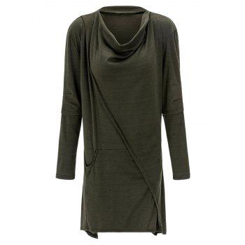 Cowl Neck Asymmetrical Sweatshirt