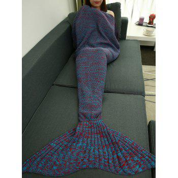 Classical Crochet Knitting Mermaid Tail Style Blanket