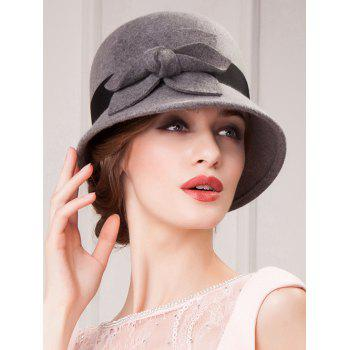 Streetwear Flower Embellished Felt Cloche Hat