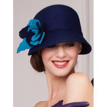 Handmade Flower 20s Felt Cloche Hat