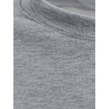 Casual Cat Print Loose Sweatshirt - GRAY S