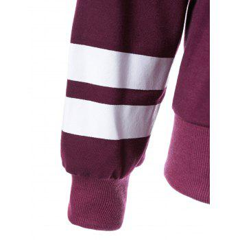Graphic Striped Sweatshirt - PURPLE PURPLE