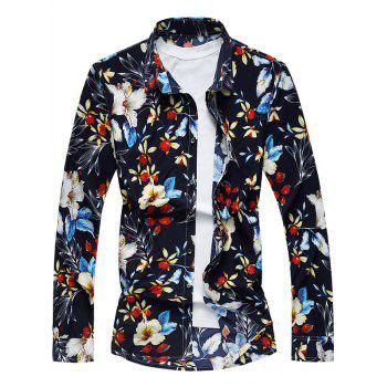 All-Over Floral Print Long Sleeve Shirt
