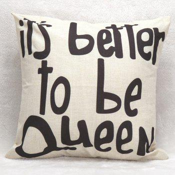 Letters Decorative Sofa Bed Super Soft Pillow Case