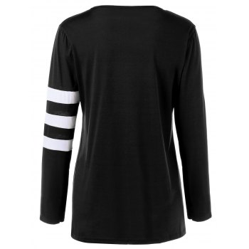 Pocket Striped T Shirt - BLACK S