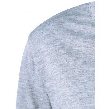 Pocket Striped T Shirt - GRAY M