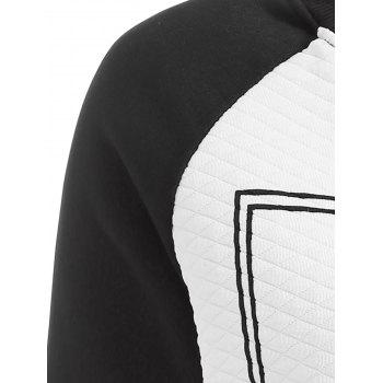 Love You Letter Raglan Sleeve Sweatshirt - BLACK L