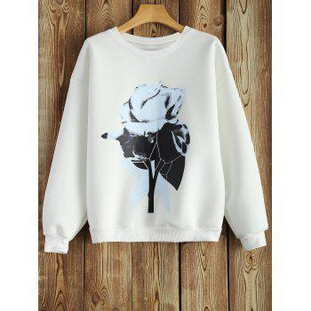 Crew Neck Sweatshirt With Chinese Painting