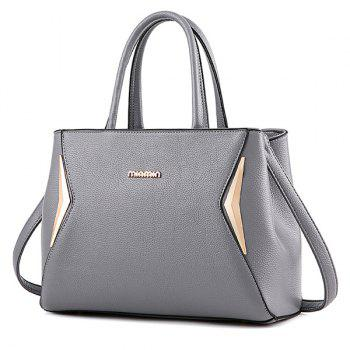Zip Metallic Tote Bag