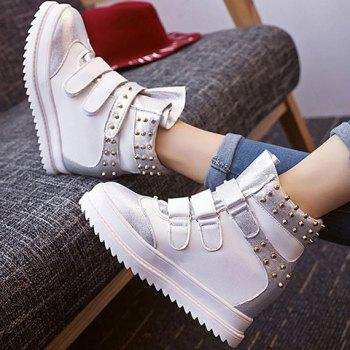 Increased Internal Hook and Loop Rivet Ankle Boots