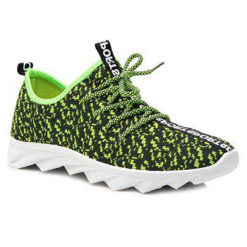 Lace Up Color Block Mesh Sneaker