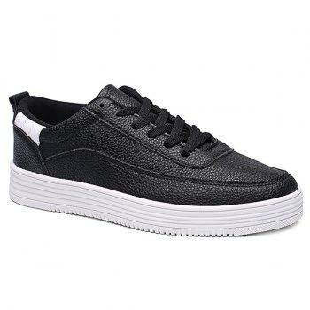 Lace Up PU Leather Breathable Casual Shoes