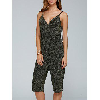 Shiny Cropped Cami Jumpsuit