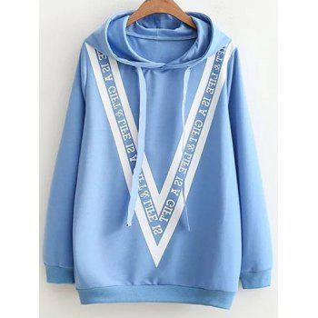 Letter Bowknot Loose Hoodie