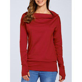 Skew Neck Tunic T-Shirt