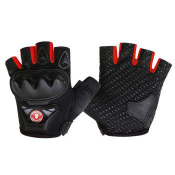 High Outdoor Quality Motorcycle Cross Country moitié Gants - Rouge M
