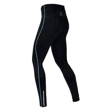 Professional Breathable Quick Dry Tight Cycling Pants - BLUE XL