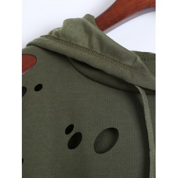 Broken Hole Hoodie - ARMY GREEN ARMY GREEN
