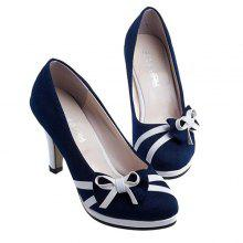 Stiletto Heel Bowknot Suede Pumps