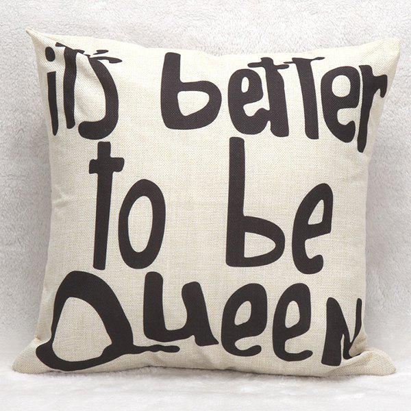 Letters Decorative Sofa Bed Super Soft Pillow CaseHome<br><br><br>Color: WHITE AND BLACK