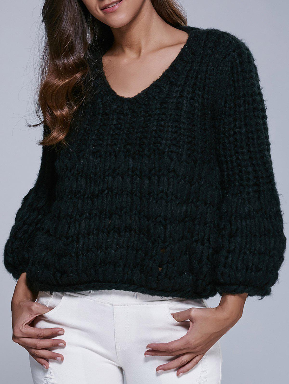 Faux Mohair Puff Sleeve Short Sweater oasis mohair