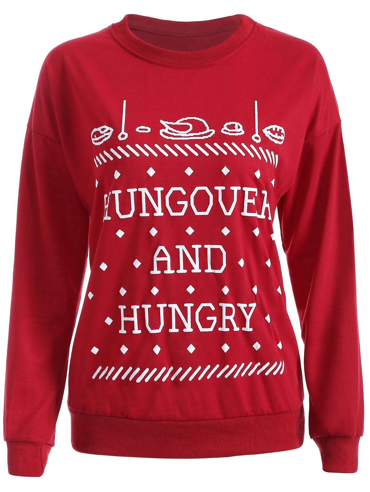 Streetwear Christmas Graphic Sweatshirt - RED S