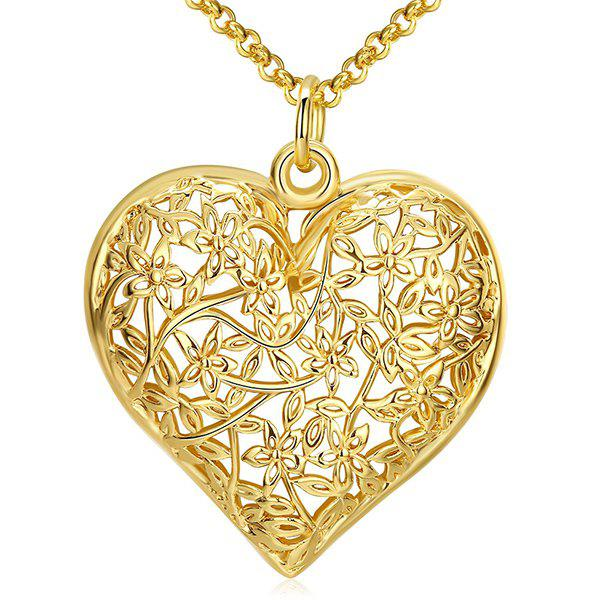 цены Floral Filigree Heart Necklace