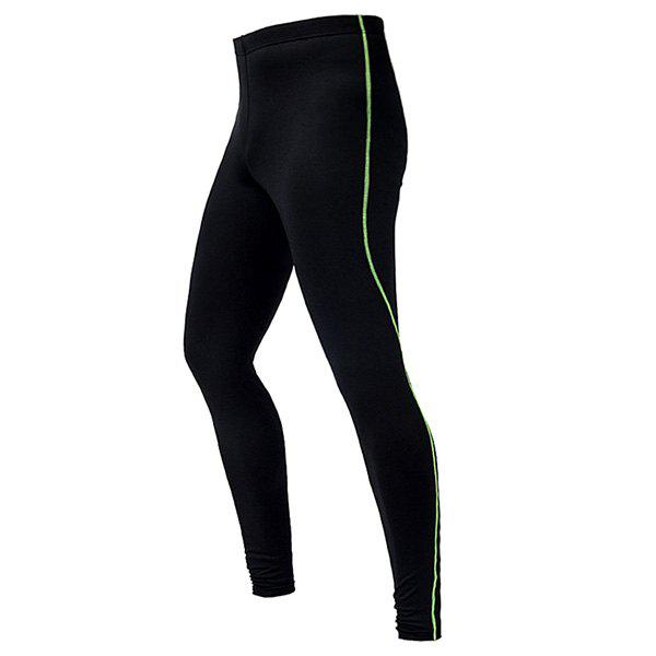 Respirant Professional Dry rapide Cyclisme Tight Pants - Vert XL