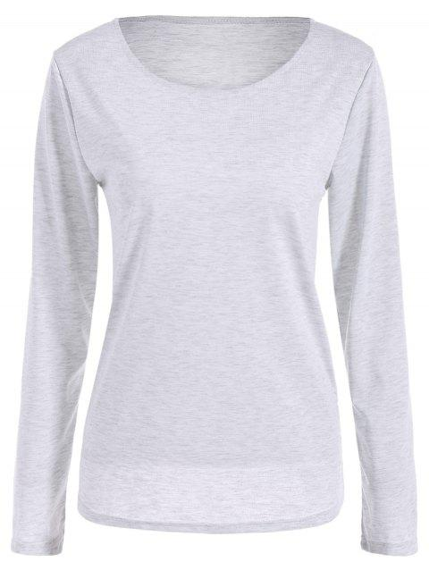 Scoop Neck Fitting T-shirt mince - Blanc S