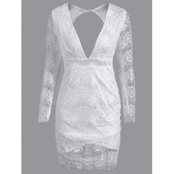 Cut Out Lace Bodycon Club Dress