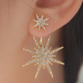 Dresslily 1PC Rhinestoned Double Star Earring