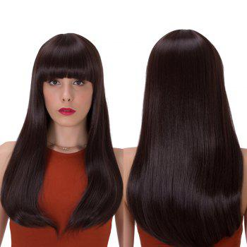 Stunning Long Full Bang Tail Adduction Synthetic Wig