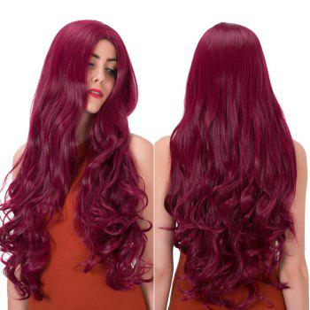 Synthetic Impressive Long Centre Parting Wavy Wig