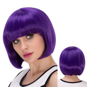 Short Full Bang Bob Haircut Exquisite Cosplay Synthetic Wig