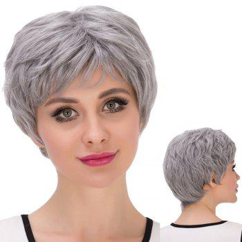 Short Oblique Bang Shaggy Synthetic Wig