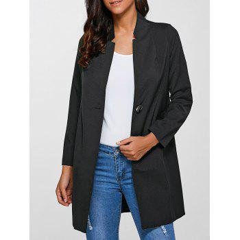 Single-Buttoned Slimming Coat