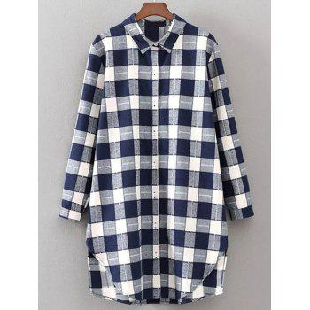Buy Checked Furcal Shirt PURPLISHBLUE / WHITE