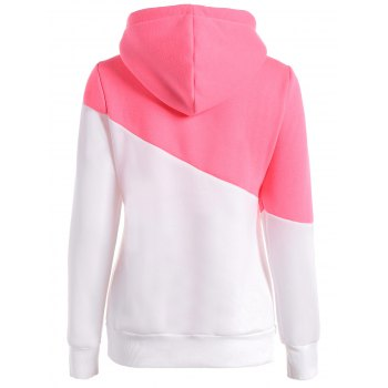 Long Sleeves Color Block Hoodie - M M