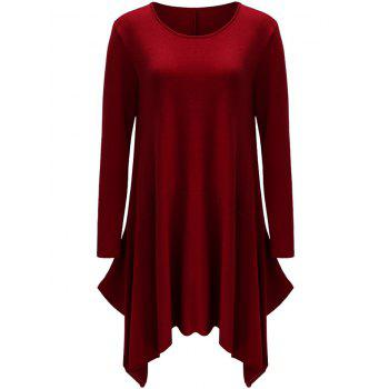 Asymmetrical Long Sleeve T Shirt Casual Dress