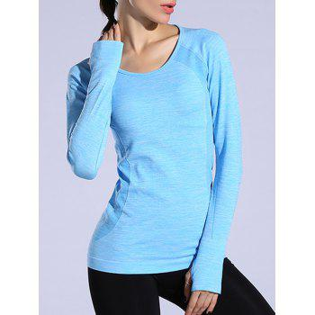 Heathered Dry-Quick Long Sleeve Gym Top