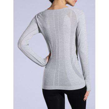 T-shirt sportif Heathered Dry-rapide - Gris Clair M