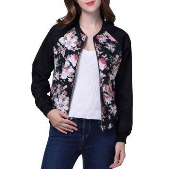 Stand Collar Flower Jacket