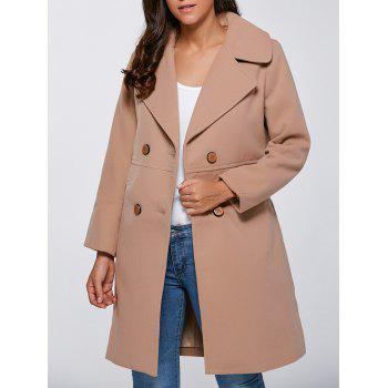 Double Breasted Faux Pocket Coat
