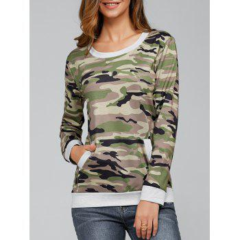 Long Sleeve Pocket Army Camo T-Shirt